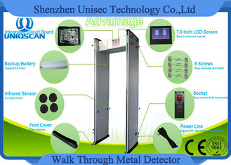 0-999 High Sensitivity Walk Thru Metal Detectors With 4-8 Hours Backup Battery